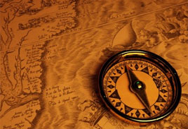 Map and compass for introduction page at Wild Horse Strategies