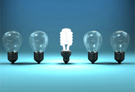 photo of light bulbs - differentiate yourself